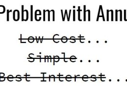 The Problem with Annuities
